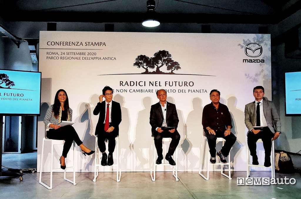 """Conferenza stampa evento Mazda """"Radici nel futuro per non cambiare il volto del pianeta"""""""