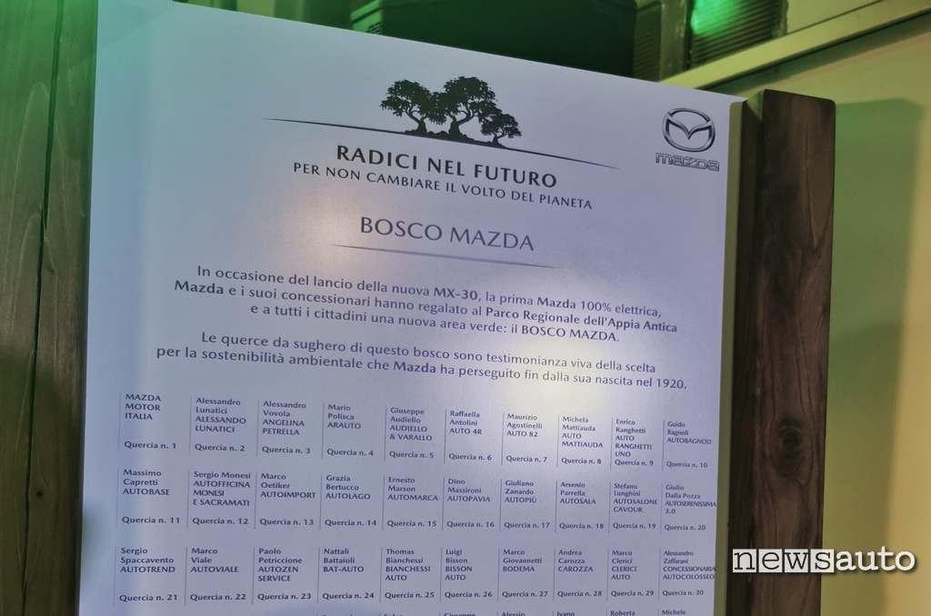 Elenco dei concessionari associati al Bosco Mazda a Roma