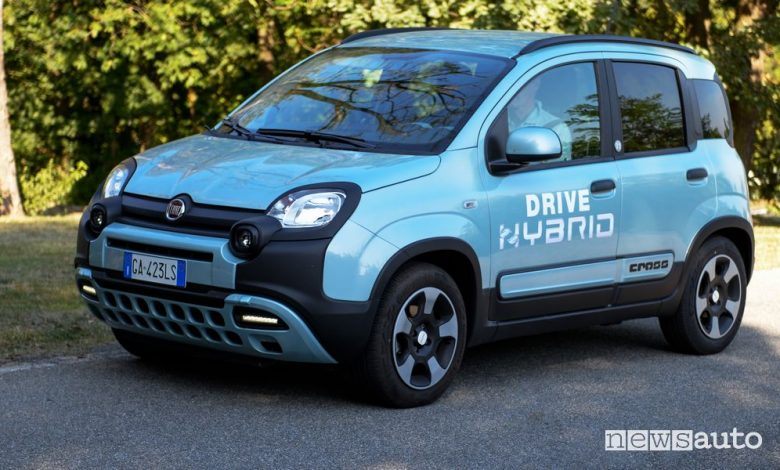 Fiat Panda Hybrid trasformata a metano