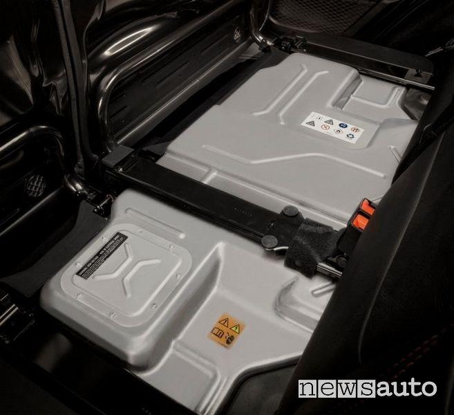 Batteria sotto i sedili posteriori Jeep Wrangler Rubicon 4xe