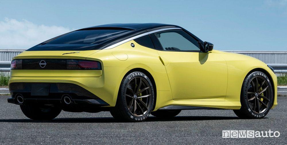 Vista posteriore Nissan Z Proto