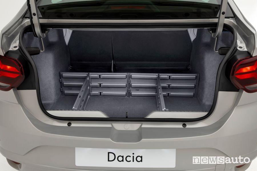Bagagliaio nuova Dacia Logan