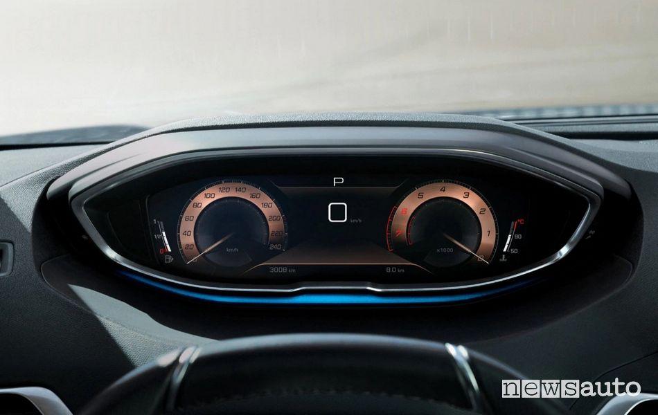 """I-Cockpit con quadro strumenti digitale da 12,3"""" nell'abitacolo della nuova Peugeot 3008"""