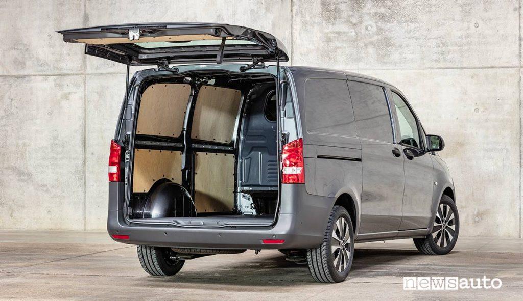 Vano di carico con rivestimento laterale del Mercedes-Benz Vito Furgone 2020