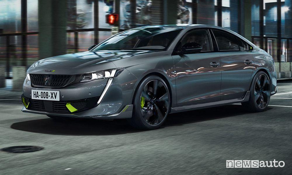 Vista di profilo Peugeot 508 Sport Engineered