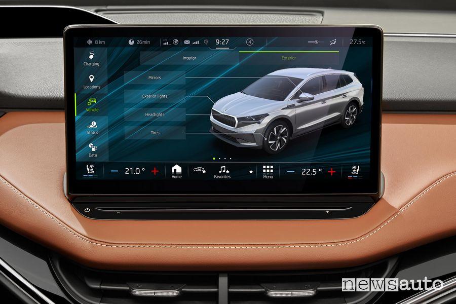 """Schermo touch screen 13"""" abitacolo Škoda Enyaq iV Founders Edition"""