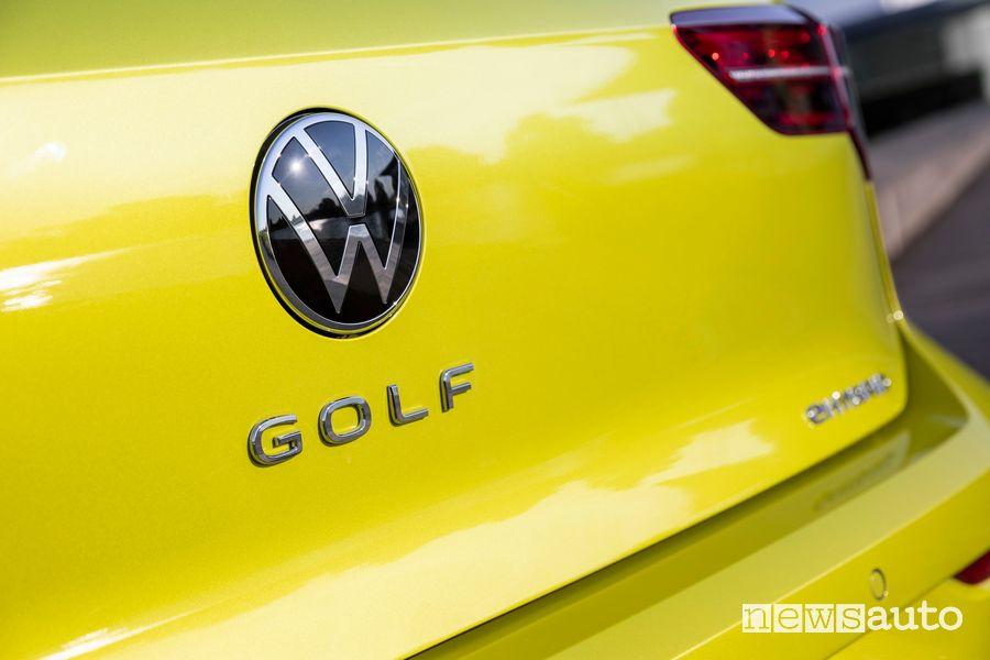 Logo Golf portellone posteriore Volkswagen Golf eHybrid