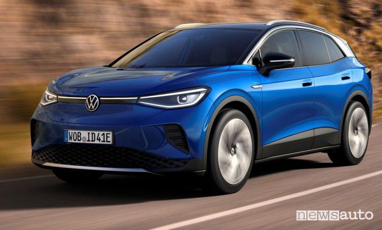 Volkswagen ID.4, caratteristiche, autonomia, tempi di ricarica e prezzi