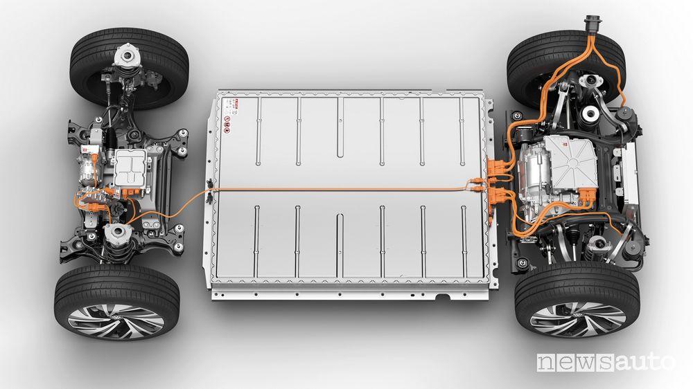 Motore e batteria Volkswagen ID.4