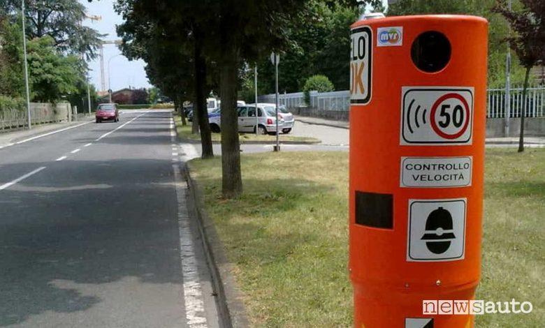 Autovelox fissi in città nel nuovo Codice della Strada