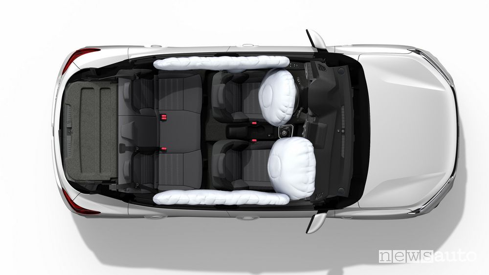 nuova Dacia Sandero è equipaggiata con 6 airbag di serie