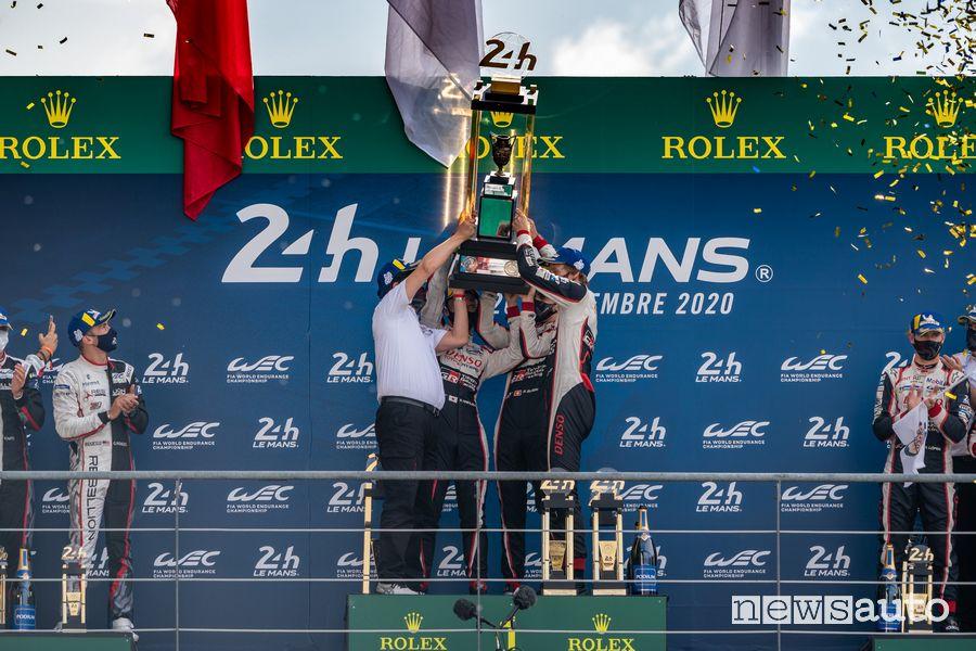 Podio finale 24 Ore di Le Mans 2020