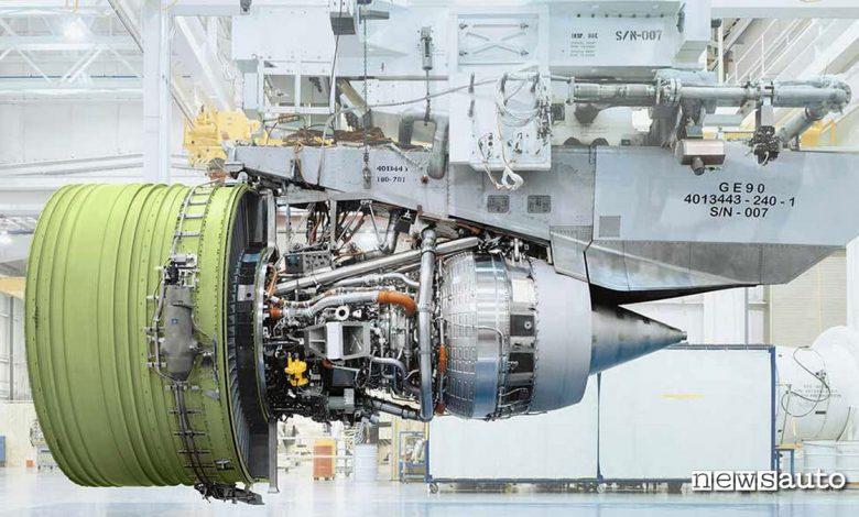 motore aereo più potente al mondo GE90