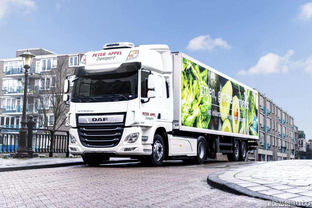 Il camion DAF CF Hybrid