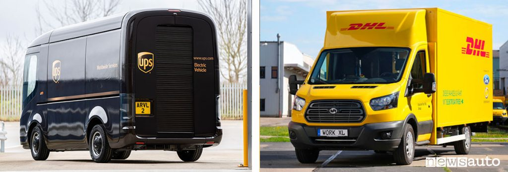 Furgoni elettrici UPS Arrival Generation 2.0 e Deutsche Post DHL StreetScooter