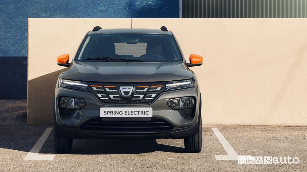 Vista anteriore Dacia Spring Electric