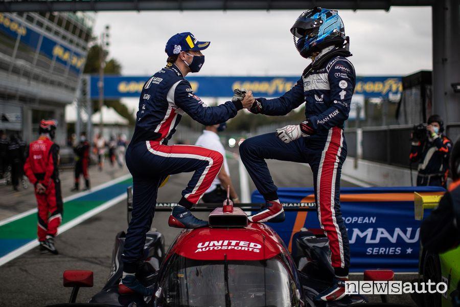 ELMS 4 Ore di Monza 2020 festeggiamenti vittoria Albuquerque-Hanson