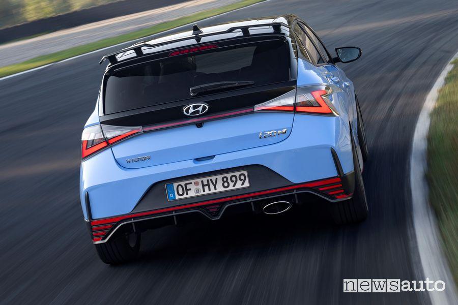Hyundai i20 N inserimento in curva in pista