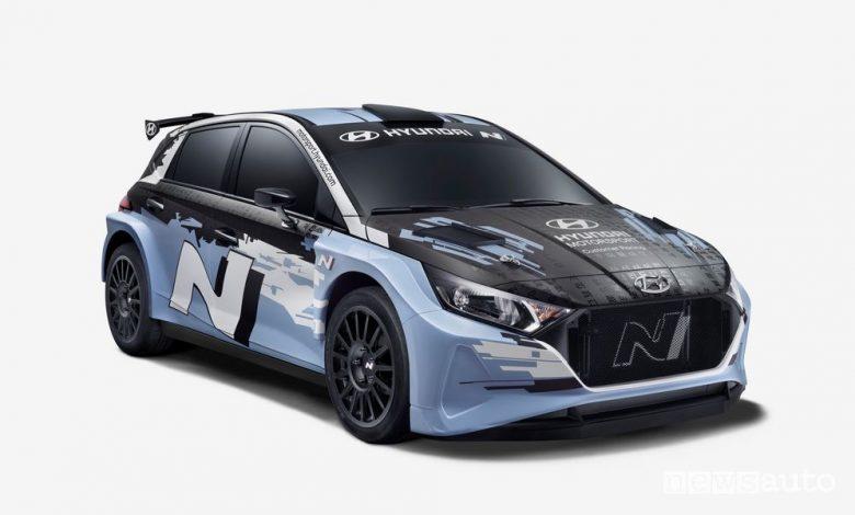 Vista di profilo Hyundai i20 N Rally2