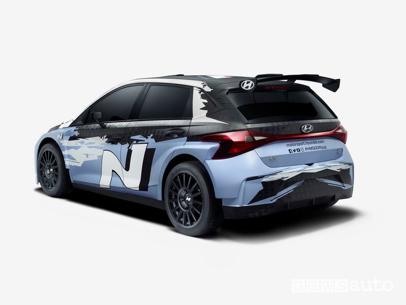 Vista posteriore Hyundai i20 N Rally2