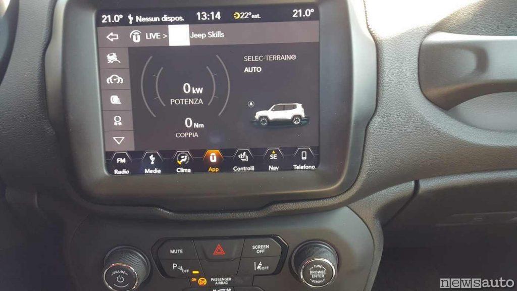 """Schermo Jeep Renegade Uconnect 8,4"""" NAV"""