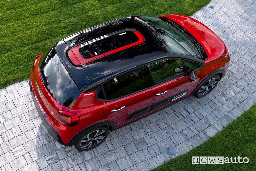 Vista dall'alto nuova Citroën C3
