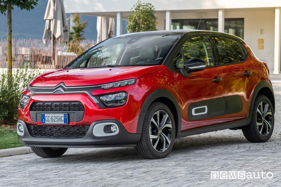 Vista di profilo nuova Citroën C3