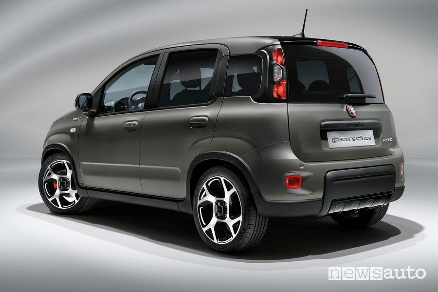 Vista posteriore nuova Fiat Panda Sport