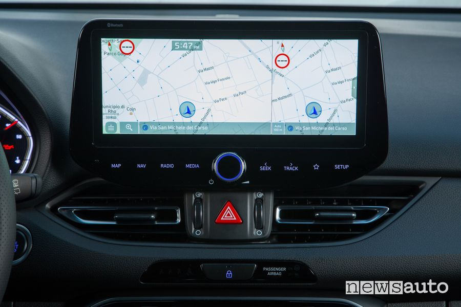 Touch screen infotainment abitacolo nuova Hyundai i30 N Line