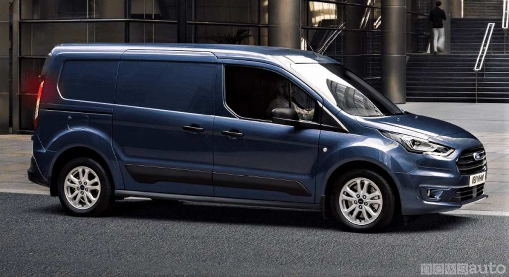 Vista laterale del Ford Transit Connect 2020