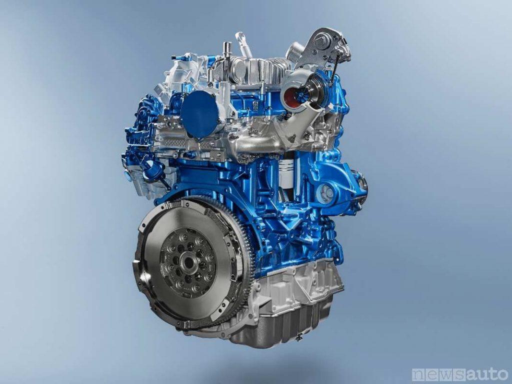 Il motore diesel 2 litri Ford Ecoblue da 170 cavalli montato sul Transit