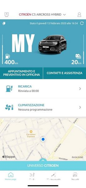App MyCitroën, assistenza tecnica in officina