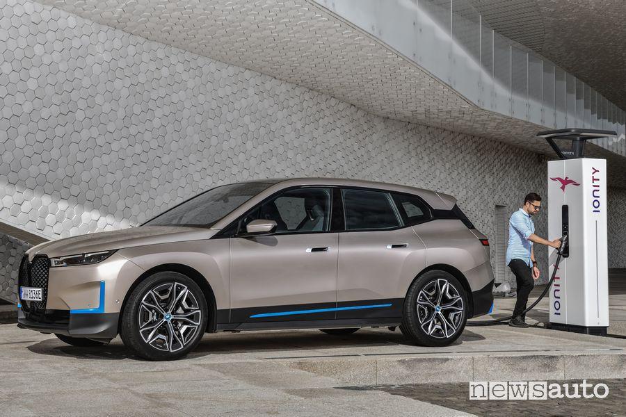 BMW iX ricarica rapida Ionity