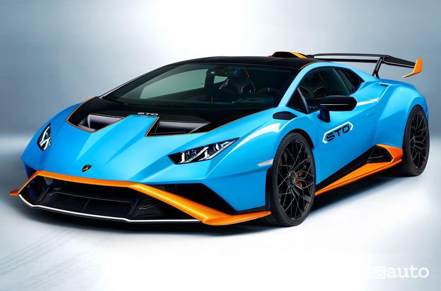 Vista di profilo Lamborghini Huracán STO