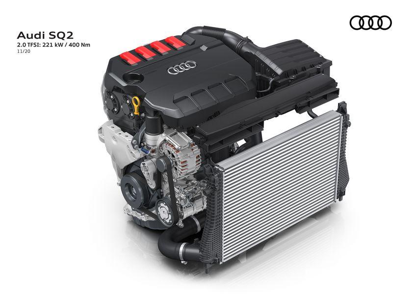 Motore 2.0 TFSI da 300 CV Audi SQ2