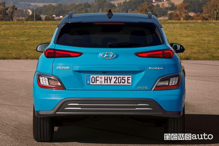 Posteriore nuova Hyundai Kona Electric