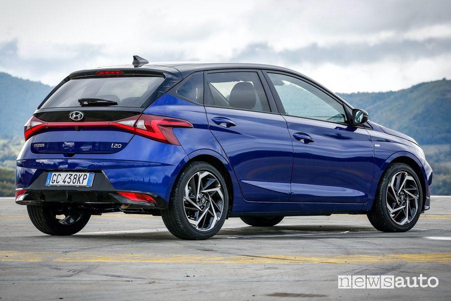 Vista posteriore nuova Hyundai i20
