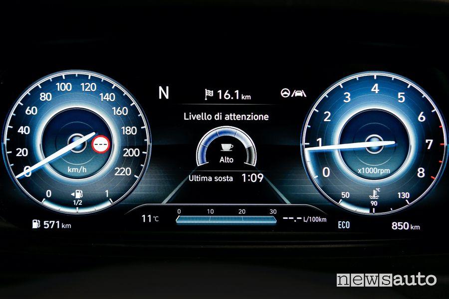 ADAS rivelamento stanchezza cruscotto nuova Hyundai i20