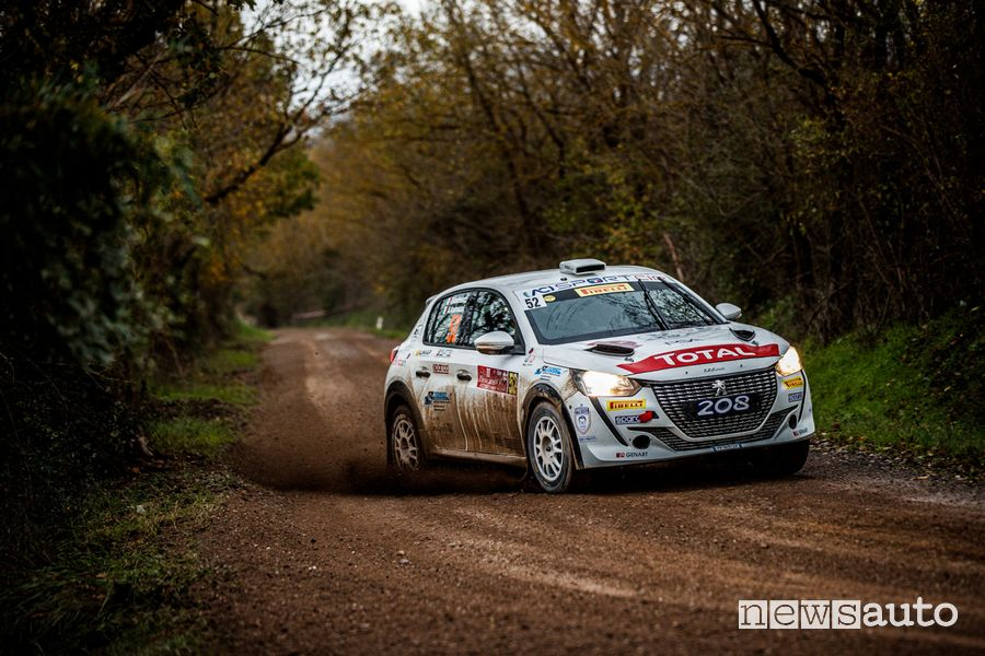 Andreucci/Andreussi su Peugeot 208 Rally 4 all'11° Tuscan Rewind