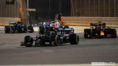 Photo of F1 Gp Sakhir 2020, orari diretta TV Sky e differita TV8. Forfait di Hamilton positivo al Covid-19