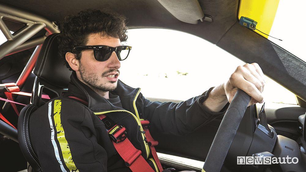 Davide Cironi alla guida