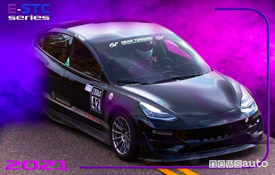 E-STC Series gare in pista per auto elettriche