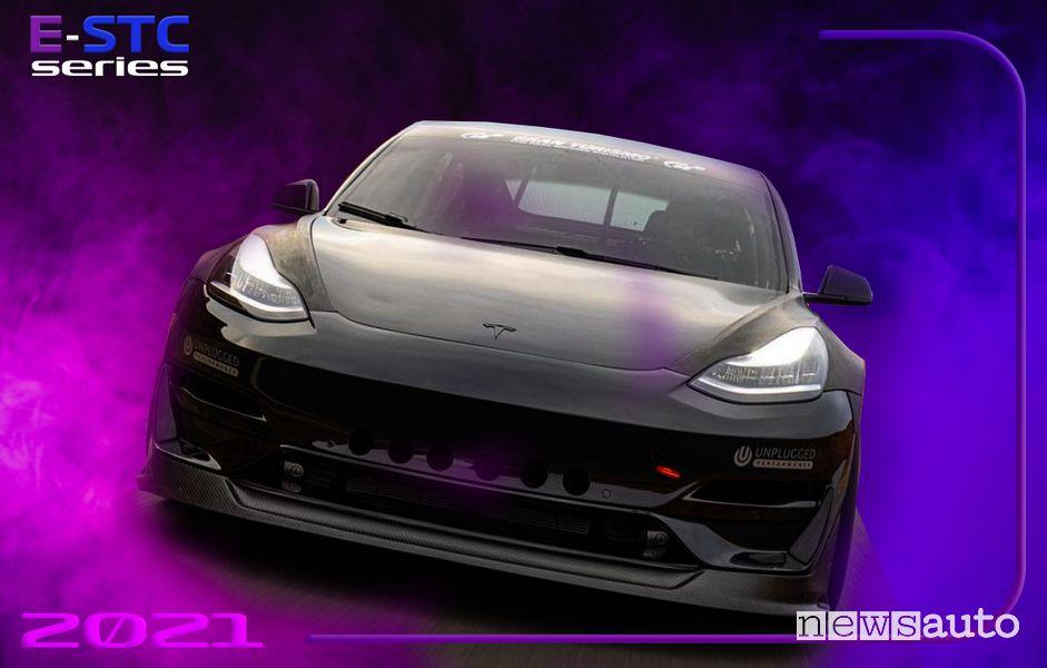 Ricarica Tesla Model 3 da competizione