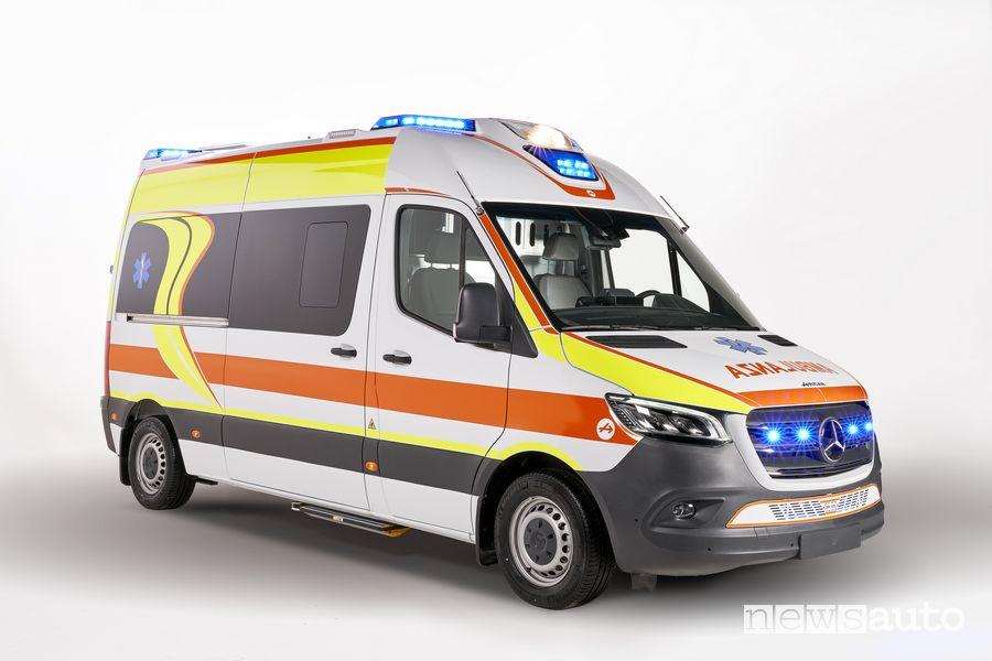 Vista di profilo Mercedes-Benz Sprinter Olmedo