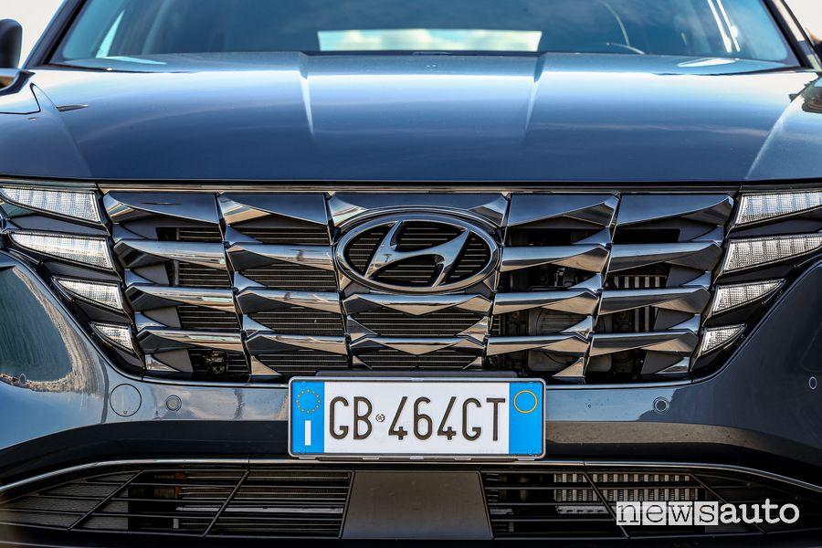 Griglia anteriore nuova Hyundai Tucson Hybrid