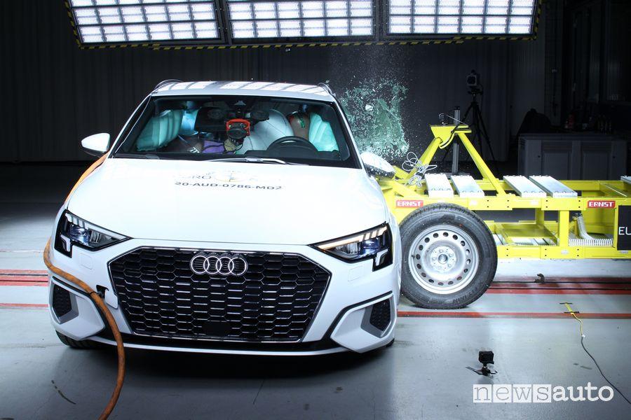 5 stelle per l'Audi A3 nei crash test Euro NCAP