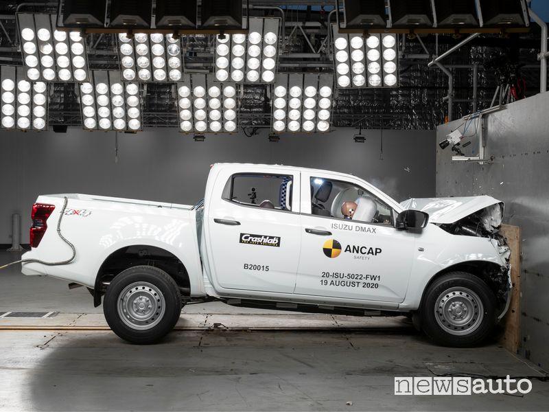 5 stelle per il pick-up Isuzu D-MAX e nei crash test Euro NCAP