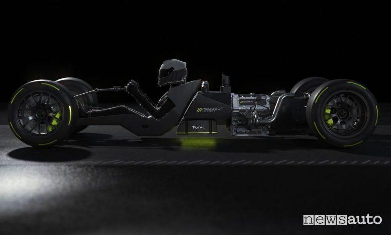 Motore ibrido Peugeot, caratteristiche powertrain Le Mans Hypercar