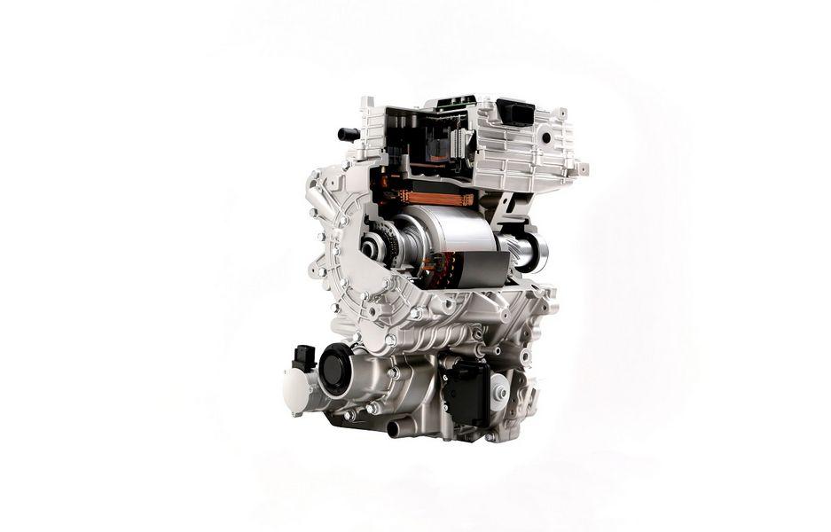 Spaccato motore elettrico nuove auto elettriche Hyundai e Kia
