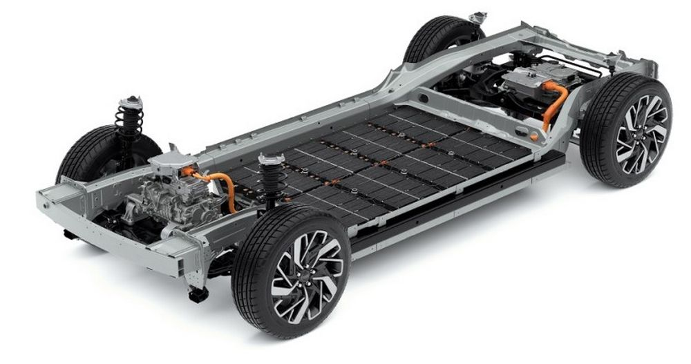 Batteria piattaforma E-GMP auto elettriche Hyundai e Kia